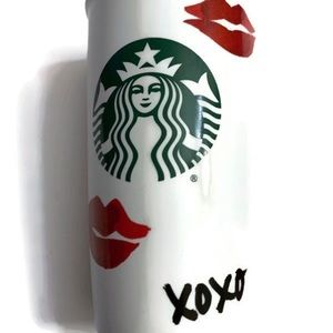 Starbucks XOXO Lips Kiss Ceramic Travel Mug